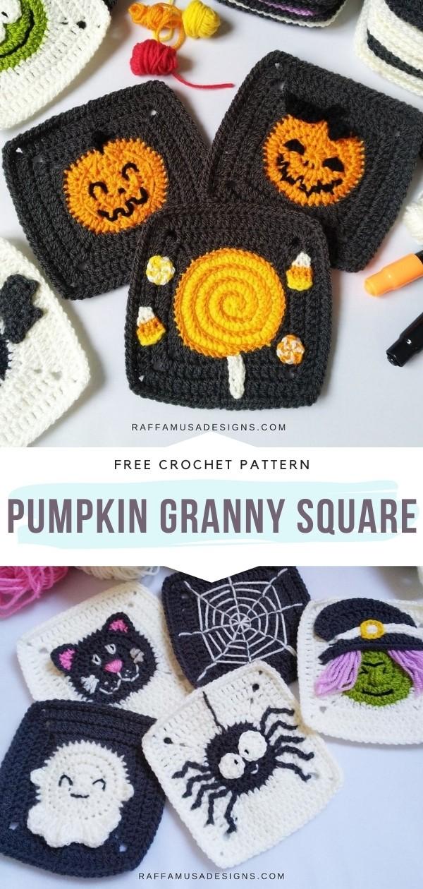 Halloween Granny Squares