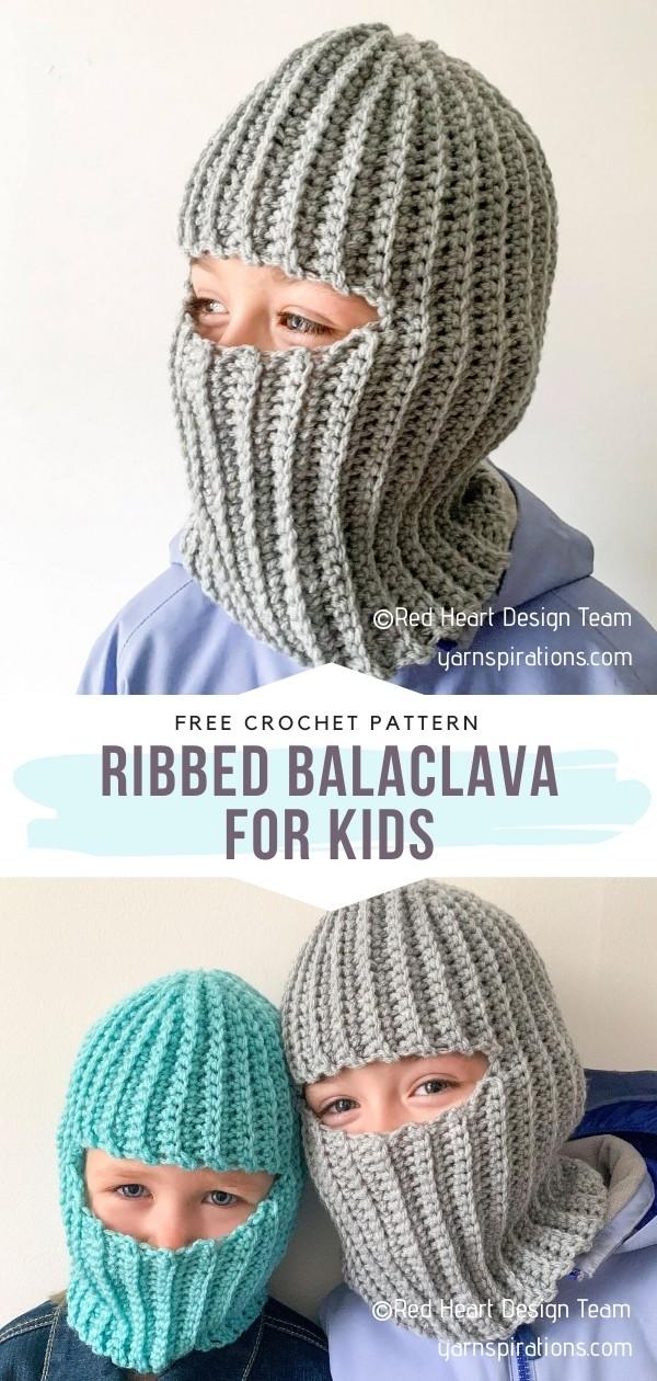 Ribbed Balaclava for Kids