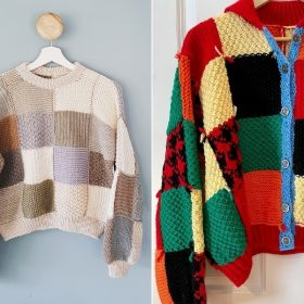 Patchwork Cardigans with Free Knitting Patterns